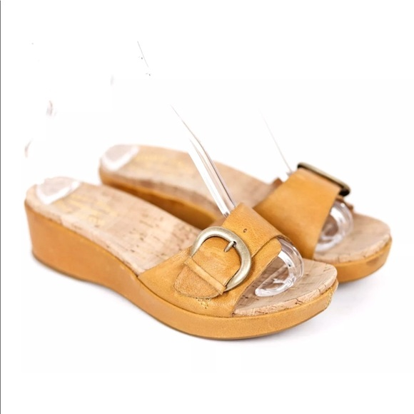 6aecc5df39b Kork Ease Shoes - Kork Ease Minka Wedge Slide Sandal Yellow Cork